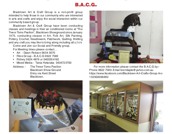 blacktown arts and craft group