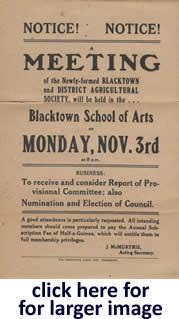 Blacktown Show History